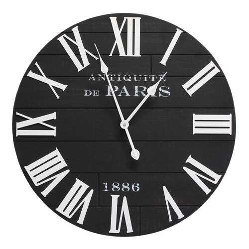 "24"" X 2"" X 24"" Black Mdf Metal Wall Clock"
