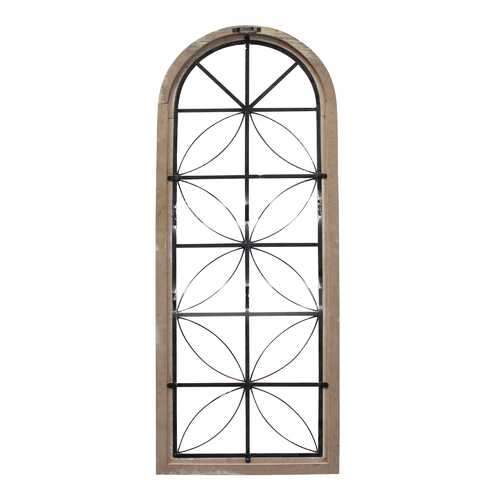 "16.65"" X 0.98"" X 43"" White Metal Mdf Window Panel"
