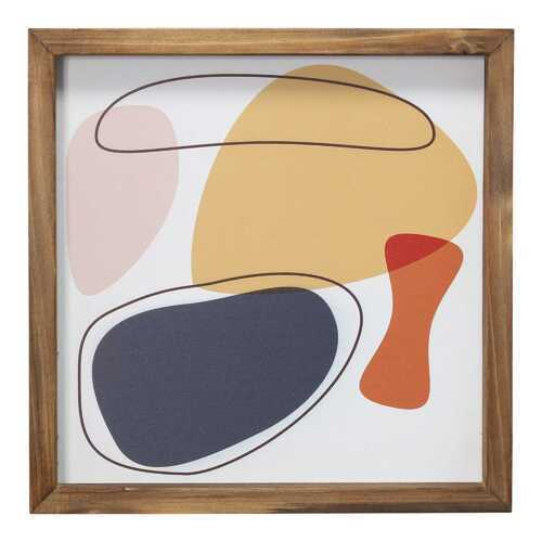 "12"" X 1"" X 12"" Multi Color Wood Mdf Framed Wall Artll"