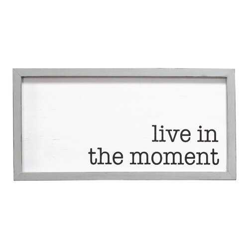 "20"" X 0.79"" X 10"" Grey White Wood Mdf Framed Wall Art"