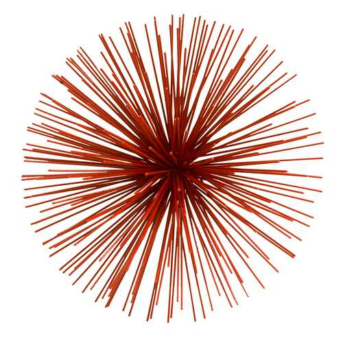 "11"" X 11"" X 7"" Red Erizo Red Wall Spiky - Medium"