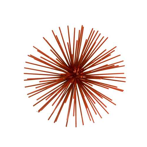 "7"" X 7"" X 4"" Red Iron Red Wall Spiky - Small"