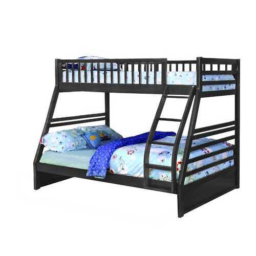 "78'.75"" X 42'.5-57'.25"" X 65"" Grey Manufactured Wood and  Solid Wood Twin/Full Bunk Bed"
