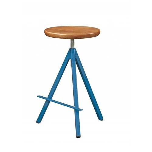 "24"" X 18"" X 30"" Natural Cherry And Steel Stool"