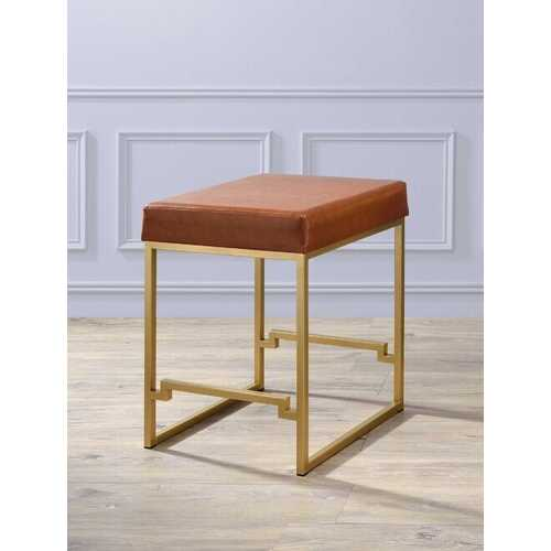 "19"" X 19"" X 25"" Light Brown Polyurethane Counter Height Stool (1Pc)"