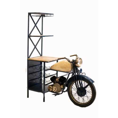 "20.5"" X 58"" X 71"" Blue Half-Bike Bar"
