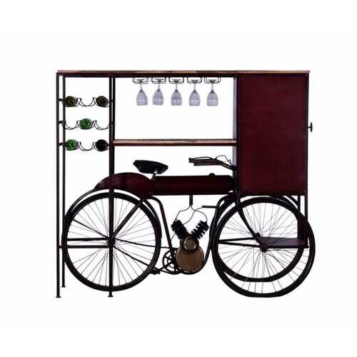 "17"" X 58.5"" X 67.5"" Maroon Tricycle Delivery Bar"
