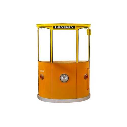 "18"" X 70.5"" X 49.5"" Yellow and Orange London Tram Bar"