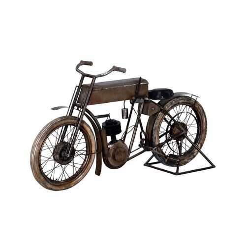 "16.5"" X 66"" X 36"" Tan Historical Bicycle Bar"