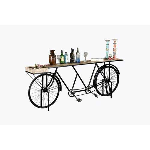 "14"" X 88"" X 33.5"" Black Tandem Bicycle Bar"