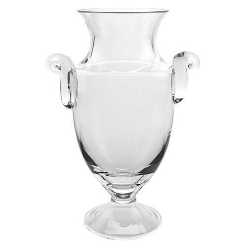 "10"" Mouth Blown Crystal European Made Trophy Vase"