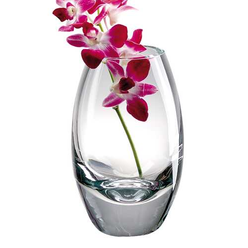 "10.5"" Mouth Blown Crystal European Made Crystal Vase"