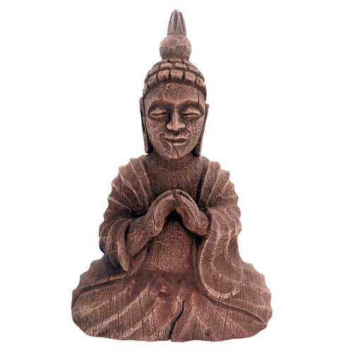 Brown Wood Buddha Seated