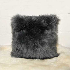 "18"" x 18"" x 5"" Gray Sheepskin - Pillow"