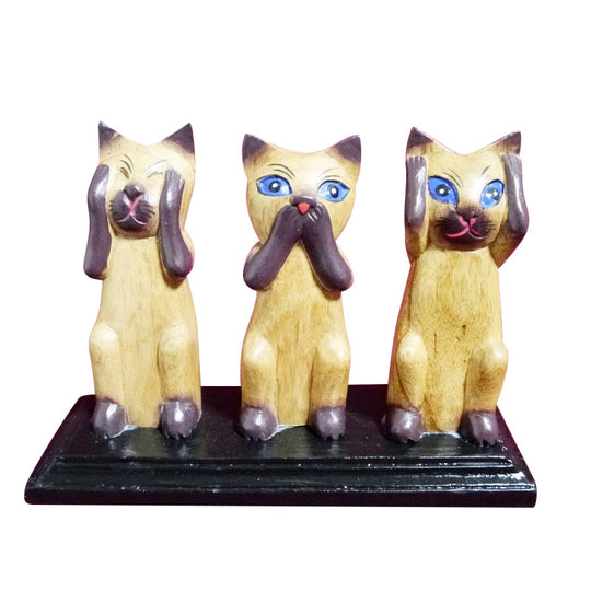 MORALITY CATS, SET OF THREE, 6 INCH