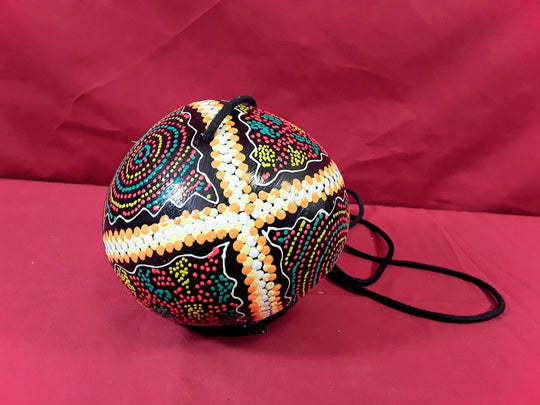 COCONUT PURSE WITH INTERIOR LINER AND ZIPPER