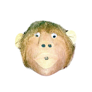 "COCONUT FACE WALL HANGING, FOUR IMAGES, 8"" - Sejati"