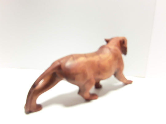 "TIGER, HAND CARVED, 20"" LONG, NATURAL WOOD FINISH - Sejati"