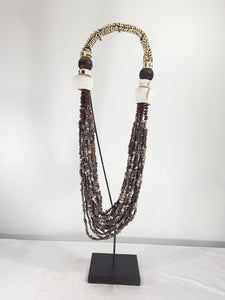 Shell jewelry, 23 inch tall with stand - Sejati