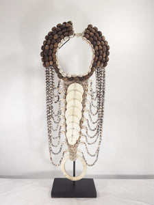 Shell jewelry, 24 inch tall with stand. - Sejati