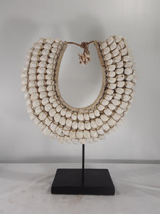 Shell jewelry, 15 inch tall with stand or a Wall Hanging - Sejati