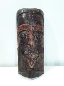 BATAK MASK,, 20 INCH TALL, GREAT CARVING POSSABLE ANTIQUE