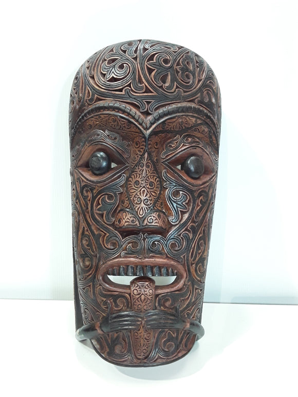 BATAK PROTECTIVE HOUSE MASK, Check out the carving on this gem