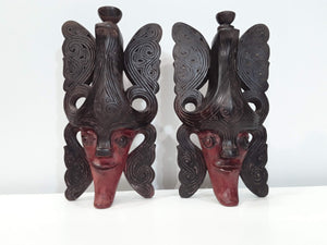 SET OF TWO PRIMITIVE MASKS FOR HOME PROTECTION