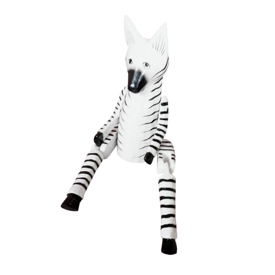 CAT  PUPPET, PAINTED, BLACK AND WHITE STRIPED, 10""