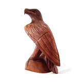 EAGLE STATUE, WINGS FOLDED, SUAR WOOD, 12 INCH - Sejati