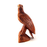 EAGLE STATUE, WINGS FOLDED, SUAR WOOD, 12 INCH