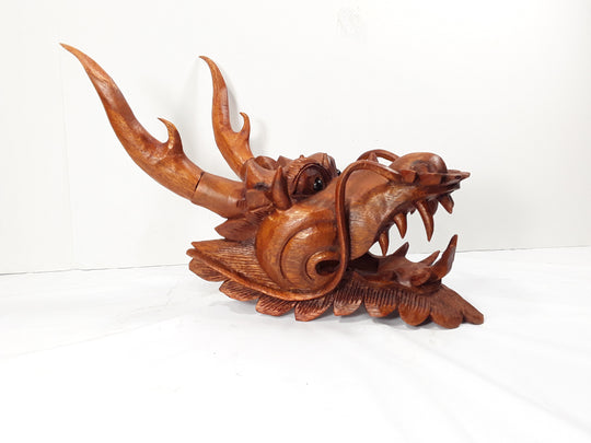 DRAGON HEAD, SUAR WOOD 8 INCHES