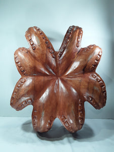 OCTOPUS, 20 INCH, SUAR WOOD, TABLE TOP OR WALL HANGING - Sejati