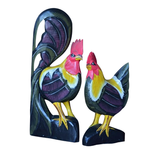 "ROOSTER AND HEN SET, 16"" - Sejati"
