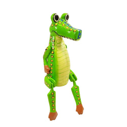 ALLIGATOR PUPPET, PAINTED, 10