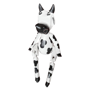 "COW PUPPET, PAINTED, 10"" - Sejati"