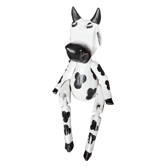 COW PUPPET, PAINTED, 10