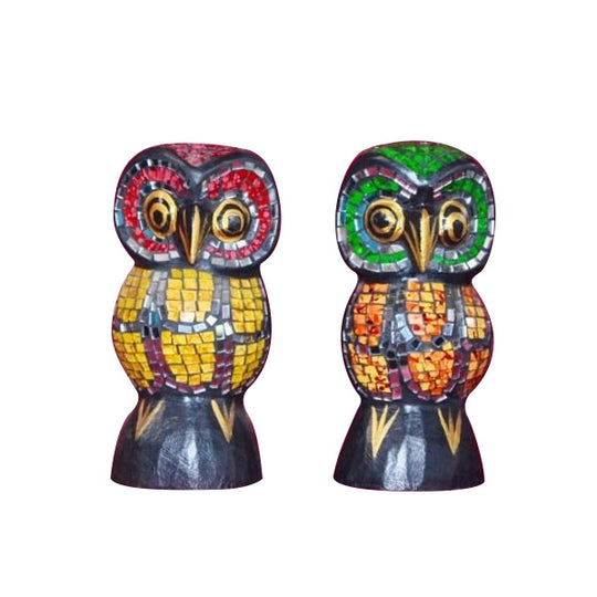 OWL PAIR, JEWELED, 6