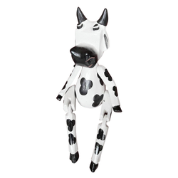 COW PUPPET, PAINTED, large 15 inch - Sejati