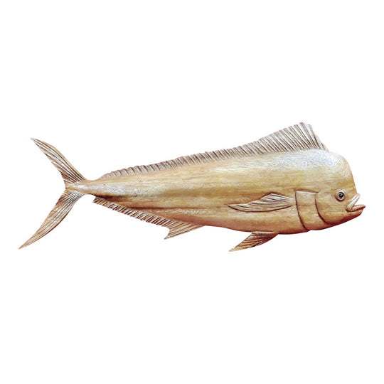 MAHI MAHI WALL PLAQUE, NATURAL FINISH, 20