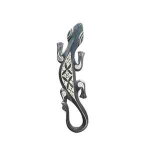 "GECKO WALL HANGING, BLACK, 20"" - Sejati"