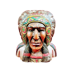 "INDIAN CHIEF BUST 16"" - Sejati"