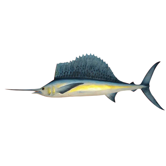 SAILFISH WALL HANGING, PAINTED, 20
