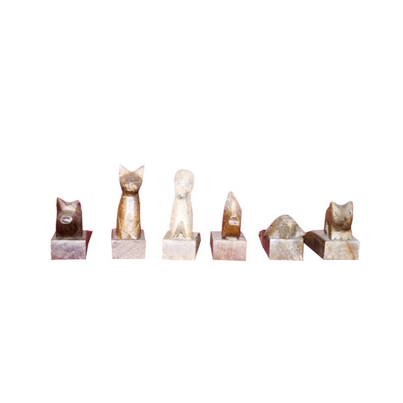 DOOR STOPS, ASSORTED, SET OF 6 - Sejati