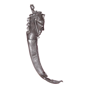 "MEDICINE HOLDER, SINGLE VERTICAL HORN, 27"" LONG - Sejati"