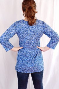 Blue Vines Cotton Tunic