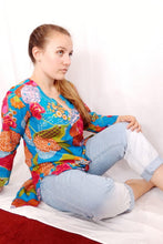 Load image into Gallery viewer, Blue Garden Cotton Tunic
