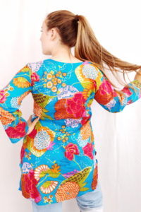 Blue Garden Cotton Tunic