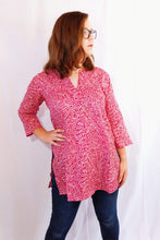 Load image into Gallery viewer, Pink Vines Cotton Tunic