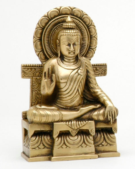 Buddha on Throne - Medium